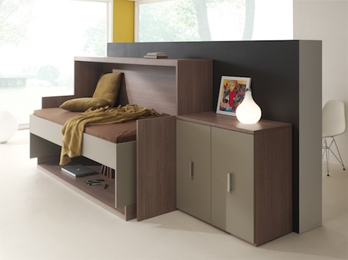 Meubles fuscielli nice 06 meubles gain de place contemporains meuble bureau lit abattable - Bureau ordinateur gain de place ...